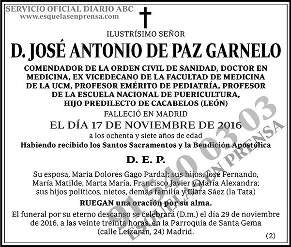 José Antonio de Paz Garnelo